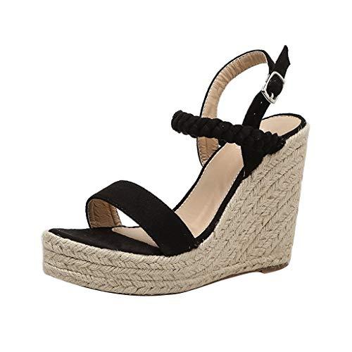 Great Deal! Padaleks Women Sexy Wedge Sandals Pumps Platform High Heels Beach Breathable Espadrilles...