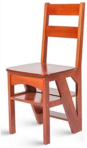 YZH Leichte tragbare Treppe Stuhl, Bambus hölzerner Haushalt Multifunktionsschritthocker, Kinder-Klappstuhl (Color : Brown)