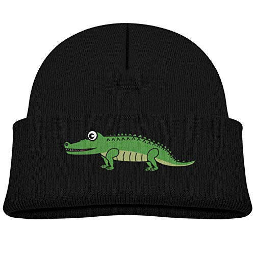 ABCEEEK Unisex Cartoon Krokodil Kinder Wintermütze Kinder Weiche Warme Beanie Mütze...