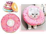 Rantow Donuts Collar protector de recuperación para mascotas   Cono ajustable después de la cirugía para gatos, gatitos, conejos, perros pequeños, recuperación de cachorros Elizabeth E-collar   Antimordedura Lick Heridas Grooming