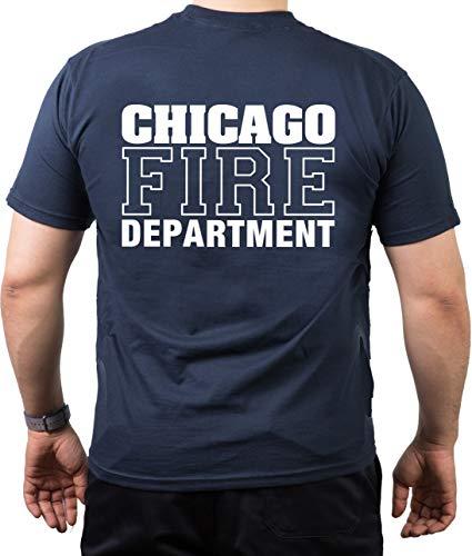 T-shirt pompier de Chicago avec inscription \