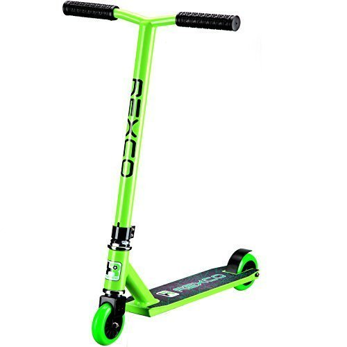 Rexco Fixed Bar Pro Stunt Scooter Street Jump Push Trick Kids Childrens Adults Abec-7 Bearings (Green)