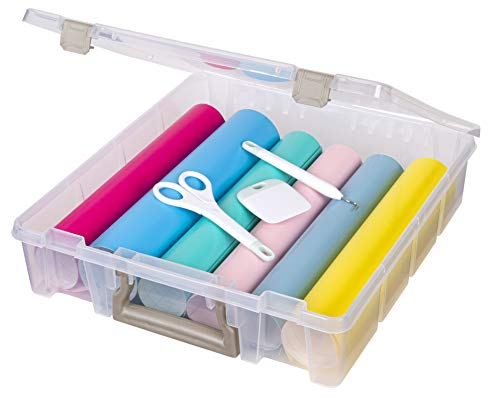 Art Bin 0365502 Art & Craft Organizer 1-Pack Clear, 1 Pack, Clear & Gold