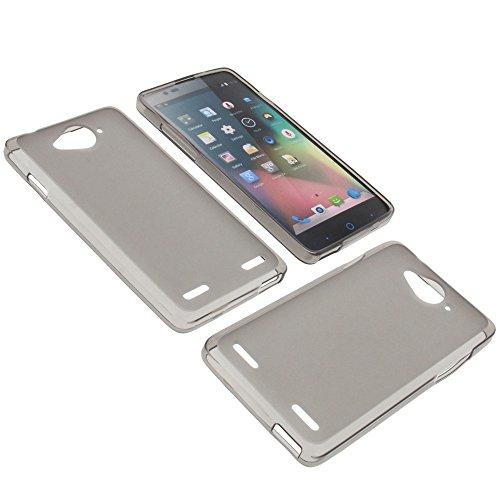 foto-kontor Tasche für ZTE Blade L3 Plus Gummi TPU Schutz Hülle Handytasche grau