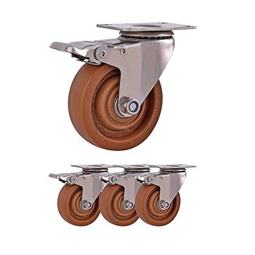Caster 5 Zoll Nachlauf Hochtemperaturbeständiger Nachlauf Universalrad Edelstahl Industrierad Backofen Rad Backofen Universalrad