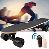 elifine 27.5' Electric Skateboard with Wireless Remote Control, 12 MPH Top Speed 10 Miles Range,7 Layers Maple Adjustable Speed Motorized Skateboard for Adults Teens