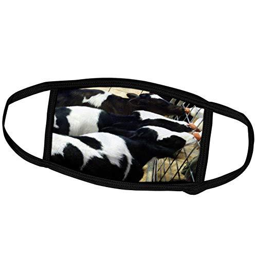 dairy masks 3dRose Florene Animals - Feeding Time - Face Masks (fm_17151_2)