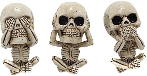 3 unids cabeza fantasma clip de ventilación del coche encanto gótico cráneo salida de aire ambientador clip de perfume auto interior accesorios