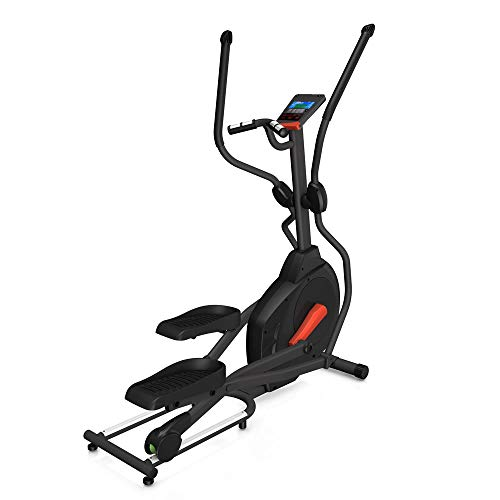 Fuel Fitness EC100 Crosstrainer, kompakter Ellipsentrainer für zuhause, 10kg Schwungmasse für natürliche, gelenkschonende Bewegung, 40cm Schrittlänge, LCD-Computer mit 14 Programmen und Fitnesstest