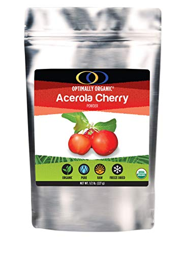 Organic Freeze Dried Acerola Cherry Powder- Extreemly High Natural Vitamin C - Natural Immune Booster - Raw All Natural - ½ lb