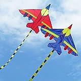 SDCVRE Cometas Nuevas Cometas en Forma de avión Cometas al Aire Libre Flying Toys Kite para niños Niños, Azul