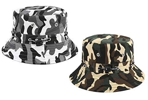 Hemuu 2 PCS Fishing Hats/Sombrero para Sol de ala Ancha Unisex, Sombrero...