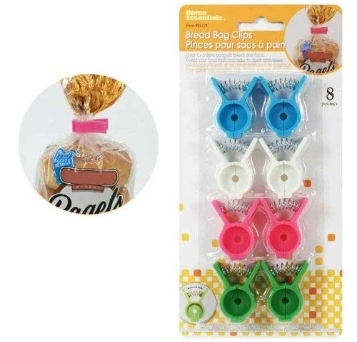 6 pc Bread Bag & Bagel Clips Sealer