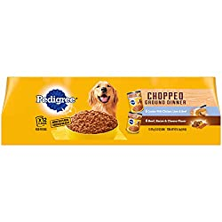 Pedigree Chopped Ground Dinner Canned Soft Wet Meaty Dog