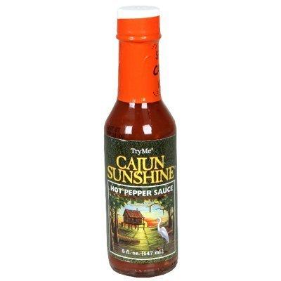 TryMe Cajun Sunshine Hot Pepper Sauce 5 of Same day shipping Bottles 3 Nippon regular agency Pack - OZ
