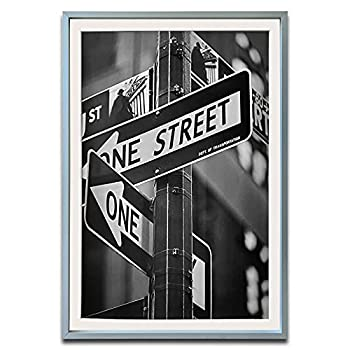 TheDisplayGuys Aluminum Metal 12x18 Picture Frame w Tempered Glass matted to 11x17  Silver  for Horizontal & Vertical Wall Hanging