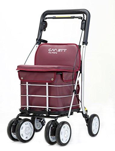 Carlett Lett 460 Carro de Compras, Aluminio, Rojo, 91 X 49 X 50 cm