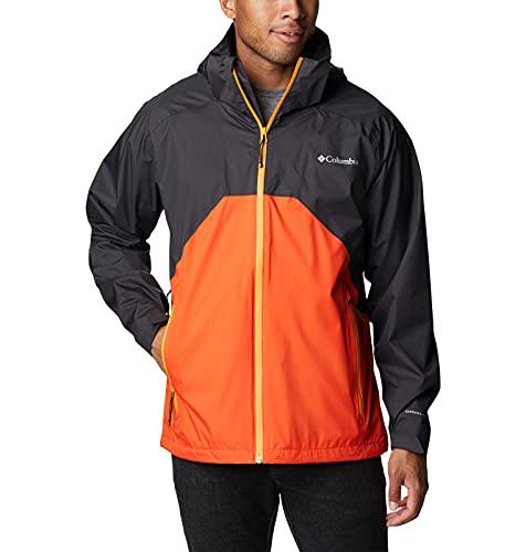 Columbia Jacket Chaqueta Rain Scape, Shark/Cuarzo Rojo, Large-10X-Large para Hombre