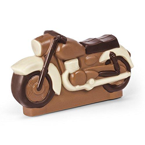 ChocoMotor I - - Motorrad aus Vollmilchschokolade | Geburtstagsgeschenk für Liebhaber von Motorrädern | Kinder | Erwachsene | Mann | Frau | Geschenkidee | lustige Geschenke für Männer