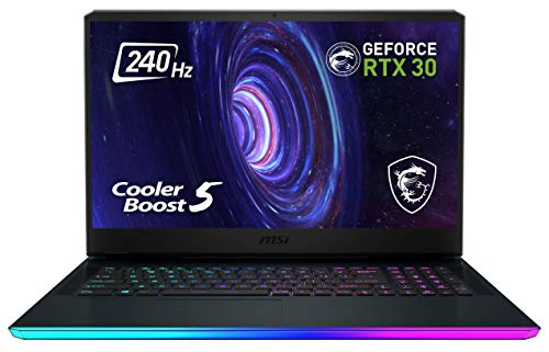MSI GE76 Raider 10UG-289 17.3 Zoll FHD (1920*1080 Pixel / 240 Hz) Gaming Notebook (Comet Lake i7-10870H+HM470) NVIDIA GeForce RTX 3070 Laptop GPU 8 GB GDDR6 VRAM 1TB, Windows 10 Home