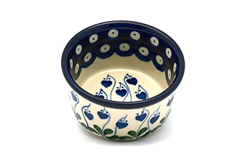 Polish Pottery Ramekin - Bleeding Heart