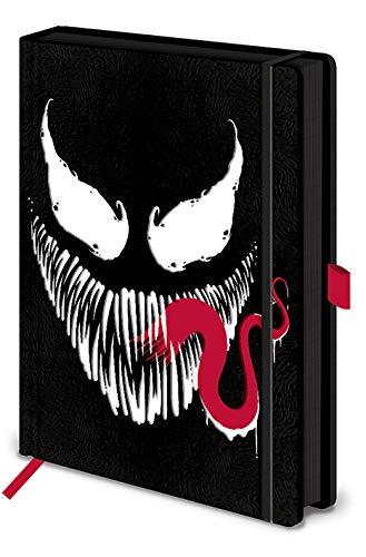 Unbekannt Z890960 Marvel Venom Premium Notizbuch Face, Papier, Mehrfarbig, A5, 2 Einzelteil