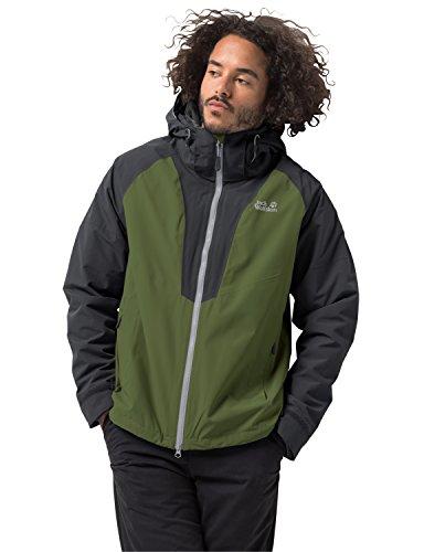 Jack Wolfskin Herren APEX Peak JKT M 3-in-1-Jacke Wasserdicht Winddicht Atmungsaktiv 3in1-jacke, Cypress grün, L