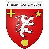 étampes-sur-Marne 02 ville Stickers blason autocollant adhésif Taille : 4 cm