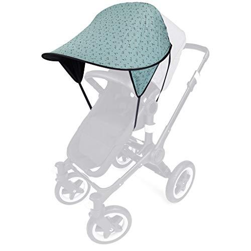 PRIEBES DAISY Sonnendach UV-Schutz 50+ | Sonnensegel Sonnenschutz Sonnenverdeck für Sportwagen, Buggys, Kinderwagen | 100% Baumwolle | beidseitig verwendbar
