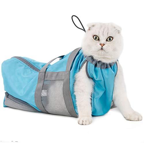 POPETPOP Cat Grooming Restraint Bag for Bathing Washing Nail Trimming Anti Bite Anti Scratch