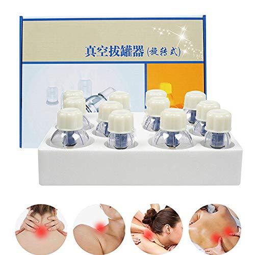 QJHP Ventouse pour Adultes Vide Tasses De Massage pour Thérapie Physique-Améliorer Douleur Articulaire, Douleur À L'épaule Et Au Dos, Douleur Au Genou and Muscle Réducteur