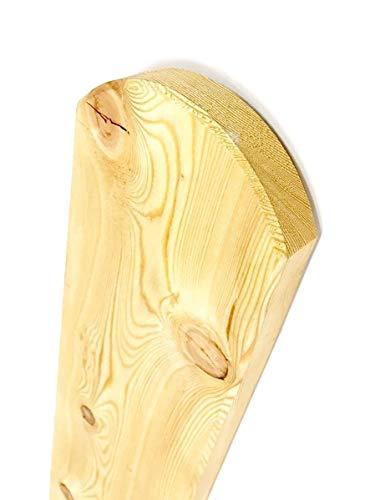 Gartenwelt Riegelsberger Premium Zaunlatte Typ A aus Lärchenholz 20x95 mm, Höhe 120 cm sibirische Lärche Oben abgerundet