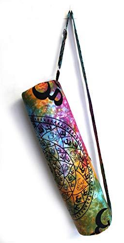 Indian Craft Castle Hippie Bolsa de transporte para esterilla de yoga con correa para el hombro, bolsa de gimnasio y playa