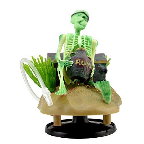 Aquarium Ornament Saim Drunken Pirate Skeletons Live Action w/Bonus