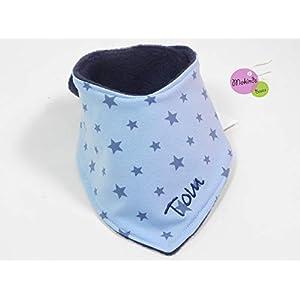 Halstuch mit Namen blau Sterne Fleece