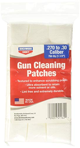 Birchwood Casey Gun Cleaning Patch for 1 1/2 Square .26/.30 Caliber (Pack of 750)