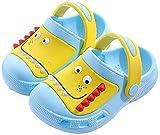 Zuecos y Mules Niño Niña Sandalias de Playa Chanclas de Piscina Zapatos de Piscina Jardín Zapatillas Verano Antideslizante Azul 170/27-28