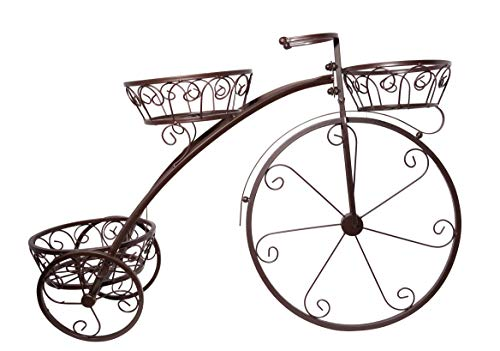 it's useful. Decorative Tricycle Plant Stand for Home, Garden, Patio, Backyards - Great Gift for Plant Lovers
