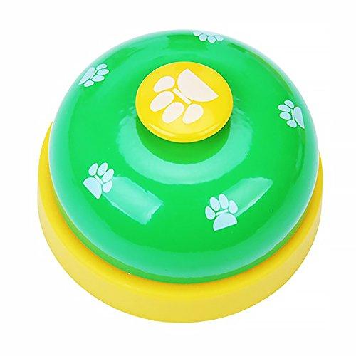 Naisicatar Haustier-Trainingsglocken für Hunde, Welpen, Essen, Klingeln Zum Erlernen von Sauberkeit und Kommunikationsgerät # Grün # x 1