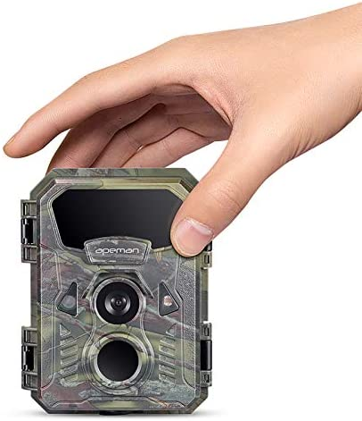 APEMAN Mini Trail Camera 16MP 1080P with 16GB TF Card Waterproof Night Vision Game Camera for product image