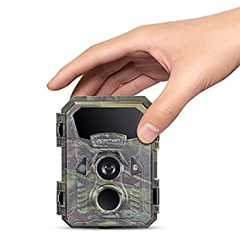 APEMAN Mini Trail Camera 16MP 1080P with 16GB Micro SD Card Waterproof Night Vision Game Camera for Wildlife Detecting Home Security