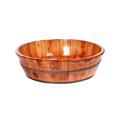 Fußbadewanne,Holz Sauna Eimer,Hochwertiges Sauna Fußbecken,Innen Und Außen Hygieneversiegelung Fuß Badewanne