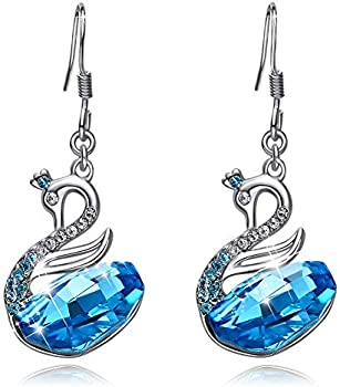 CDE S925 Sterling Silver Dangle Earring with Crystals