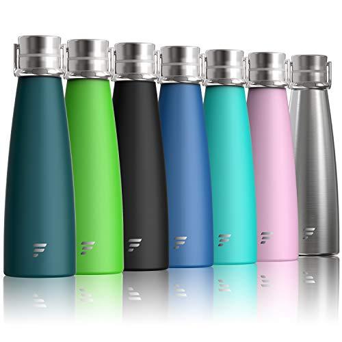 Letsfit Edelstahl Trinkflasche 24 Std. Kalt und 12 Std. Heiß, 475ml Thermosflasche BPA-Freie Auslaufsichere Vakumm Trinkflaschen Wasserflasche geeignet für Sport, Laufen, Fahrrad, Yoga, Wandern