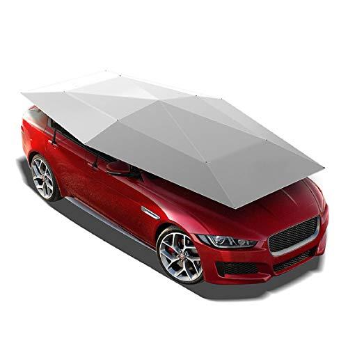 Paraguas automático del sol del coche, tienda de plegado móvil, adecuada para la mayoría de los automóviles, utilizados para la protección solar del automóvil, aislamiento térmico ,Blue-Automatic