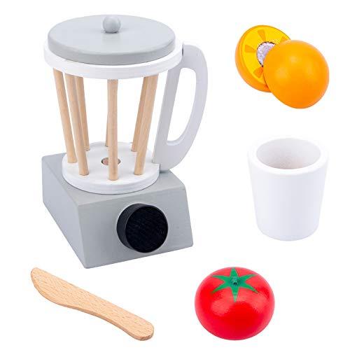 Juego de utensilios de cocina de madera para niños, juego de rol de cocina, herramienta de aprendizaje educativo para niños, juego de utensilios de cocina (exprimidor)