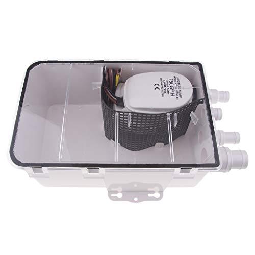 H HILABEE 750gph 12V Duschpumpe System Duschpumpensystem Duschwannen-Pumpensystem für Fußabdrücken von Attwood