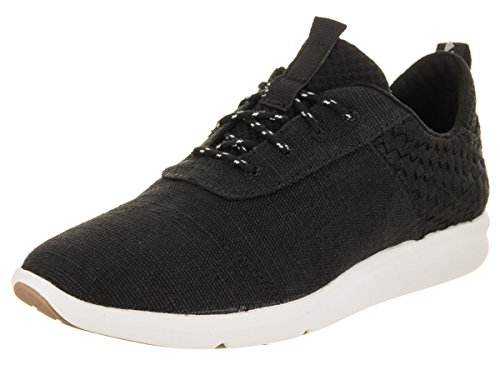 TOMS - Cabrillo Canvas Sneaker Femmes, 36 EUR, Black Heritage CNV/Basket Weave