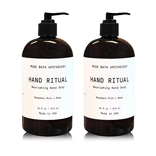 Muse Bath Apothecary Hand Ritual - Aromatic and Nourishing Hand Soap, 16 oz, Infused with Natural...