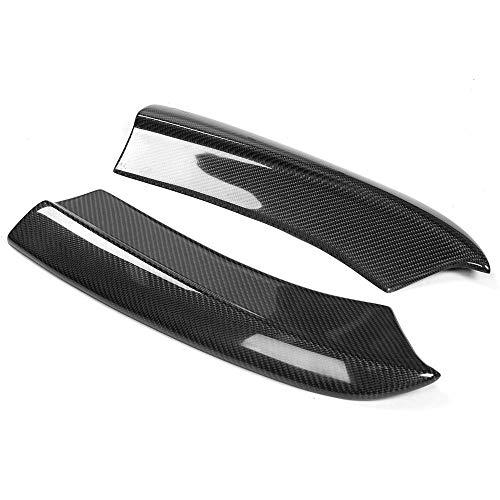 Rear Bumper Side Apron Compatible With 2015-2020 Dodge Charger | SRT Style Rear Bumper Lip Splitter Winglet Aprons Spat Valance Carbon Fiber CF by IKON MOTORSPORTS | 2016 2017 2018